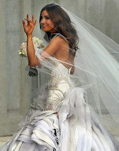 Rebecca Judd in her custom J'aton couture wedding gown
