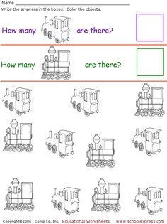 Count the trains worksheet...
