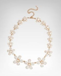 Plumeria Crystal Necklace by Bebe