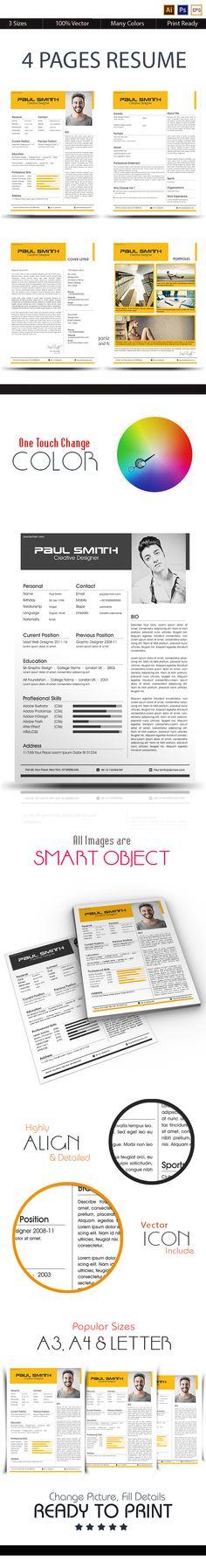 Modern Resume Template - 110490 Premium line of Resume \ Cover - apple resume template