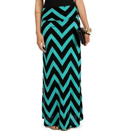 Love a maxi for easy summer style, and LOVE the chevron print!  add a black tank & statement necklace, & you're effortlessly chic!