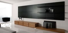 Amazing Interior Fabulous Big And Wide Black Livingroom Wall Unit For Entertainment And Decoration Exclusive And Modern Wall Unit Design Ideas Modern Tv  Modern Wall Unit Designs For Living Room, Backgrounds