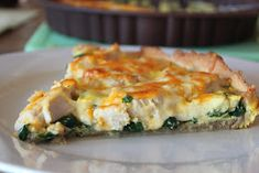 Cathrines matblogg: Pai med kylling og spinat. Spanakopita, Quiche, Breakfast, Ethnic Recipes, Food, Morning Coffee, Quiches, Meals, Yemek
