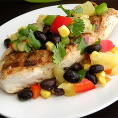 """Pineapple Salsa I """"A fruit and vegetable salsa! Serve over chicken, fish, or pork, or as a side dish."""""""