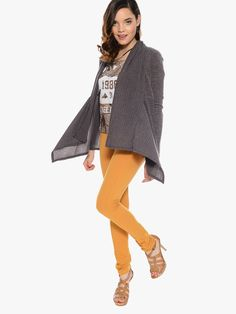 Heather Brown Chilly Time Ribbed Cardigan | $10.00 | Cheap Trendy Cardigans Chic Discount Fashion f