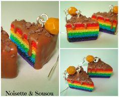 Rainbow cake caramel et chocolat de la boutique NoisetteetSousou sur Etsy
