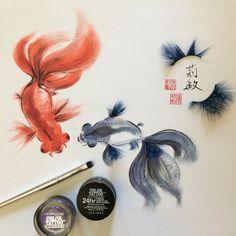 ♛[QQ廢物利用]♥過期化妝品變中國畫♥Turn Expired Makeup To Art