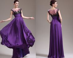 Custom Made New Stunning Purple Evening Dress Prom Gown by STHNAB, $235.00