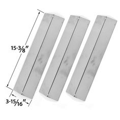 Shop 3 Pack Stainless Steel Heat Cover for Assuie, Brinkmann, Uniflame Charmglow & Grill King Gas Grill Models Replacement St.