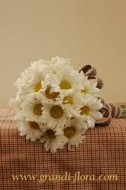 daisy wedding simple bouquet
