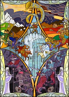 This is art fit for the halls of Rivendell. Artist Jian Guo uses digital art to mimic the artistry of old world stained glass and results speak for themselves.