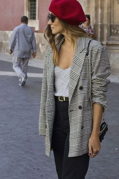 52 Adorable Winter Outfit Ideas with Blazer 2018 and Style # Style Blazer, Look Blazer, Blazer Outfits, Blazer Fashion, Casual Outfits, Fashion Outfits, Womens Fashion, Blazer Dress, Fashion 2018