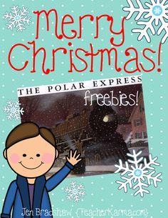 Classroom Freebies Too: Teacher Alert: Polar Express ~ FREE Printables! Polar Express Book, Polar Express Activities, Polar Express Theme, Polar Express Crafts, Christmas Activities, Winter Activities, Christmas Themes, Christmas Fun, Holiday Fun