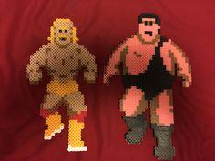 Nes wrestlemania perler beads Andre the giant and hulk hogan