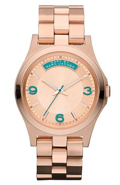 OMG TEAL. MARC BY MARC JACOBS 'Baby Dave' Bracelet Watch | Nordstrom