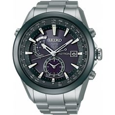 Seiko Men's SAST003 Astron GPS Solar World Time Titanium Watch