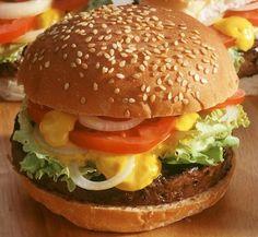 Homemade burger, easy recipe - - - Homemade burger, easy recipe – – – Home - Healthy Burger Recipes, Keto Burger, Pizza Burgers, Grilling Recipes, Bbq Hamburgers, Cheeseburgers, Best Homemade Burgers, Loose Meat Sandwiches, How To Cook Burgers