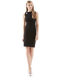 Gucci - Black Stretch Viscose Knot Dress