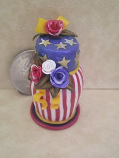 Dollhouse Miniature half scale 4th of july by CSpykersMiniatures, $19.00