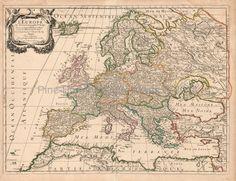 Europe Antique Map Sanson 1683