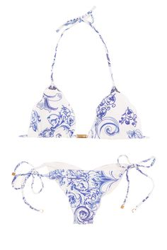Brazilian bikini CERAMICA  Getting excited for Summer. I really like the combination of blue & white.