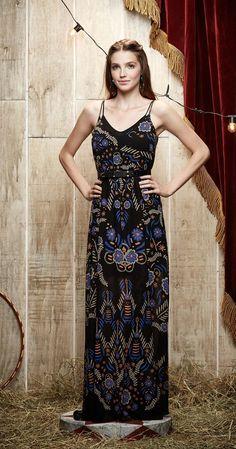 Vestido Longo Flores Bordadas | Vestuário | Antix Store