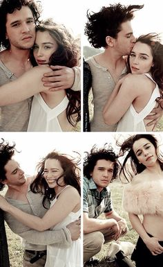 Kit Harington and Emilia Clarke - Game of Thrones Cast
