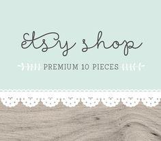 Etsy Shop Set   Etsy Branding Etsy Avatar Etsy Package by Otologo
