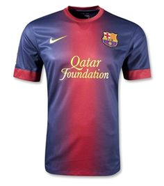 "Barcelona Home 2012/13 KIT. Get it customized with your ""Name & Number""! www.primosoccerjerseys.com"