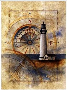 Faro this would be pretty framed for a beach decor room or house Vintage Maps, Vintage Prints, Antique Maps, Foto Transfer Potch, Etiquette Vintage, Lighthouse Art, Lighthouse Sketch, Decoupage Paper, Nautical Theme