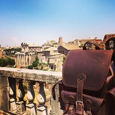 Atop Palatino Hill at the Roman Forum. We like things that last. | Saddleback Leather Co. | Front Pocket Backpack | 100 Year Warranty | $498.00 - $598.00
