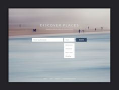 Discover Places Beautiful Landing Page Design Inspiration & Tips Minimal Web Design, Web Ui Design, Flat Design, Intranet Design, Landing Page Optimization, Apps, Ui Design Inspiration, Ui Web, Landing Page Design