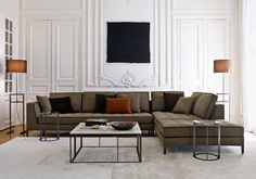 Classic contemporary sofa with capitonne stitching to the seat and contrast piping - the Lucrezia Sofa by Maxalto B & B Italia from Campbell Watson. http://www.campbellwatson.co.uk/superbasket/product/19623/Lucrezia+Sofa+Maxalto+B%26B+Italia