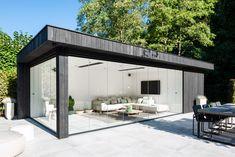 Best backyard pool cabana dream homes 19 ideas Backyard Office, Backyard Patio Designs, Exterior House Colors, Exterior Design, Outdoor Rooms, Outdoor Living, Parrilla Exterior, High Design, Contemporary Garden Rooms