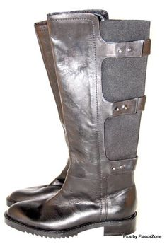 Kenneth Cole Roam The Streets Boots Riding Knee High Women Black Size 5 5 B $305 | eBay