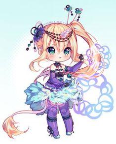 [+Video] Commission - Purple Magic by Hyanna-Natsu on DeviantArt Cute Anime Chibi, Kawaii Chibi, Anime Kawaii, Chibi Girl Drawings, Cute Kawaii Drawings, Awesome Drawings, Manga Girl, Anime Art Girl, Pretty Art