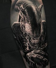 Made by Thomas Carli jarlier Tattoo Artists in Moscow, Russia Region Semicolon Wrist Tattoo, Unique Semicolon Tattoos, Unique Tattoos, Cool Tattoos, Tatoos, Predator Tattoo, Venom Tattoo, Alien Tattoo Xenomorph, Horror Movie Tattoos
