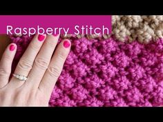 How to Knit the RASPBERRY Stitch Pattern | Studio Knit
