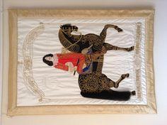 Patchwork, goldwork. Embroidered, Lance  Frederik 3 of Denmark