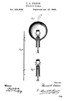 On January 27, 1880 inventor Thomas Edison patented the first incandescent light bulb.