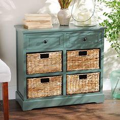 Blue 6-Drawer Storage Chest with Baskets | Kirklands