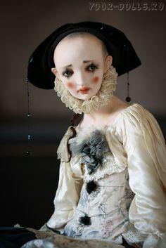 Авторская кукла Пьеро от Алисы Филипповой