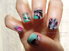 marbled nails - how on earth do you do this?! will someone tell me :T