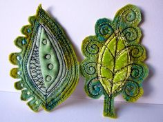 Dog-Daisy Chains: textiles - Leaf embellishments - maybe for a headband?