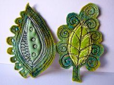 Dog-Daisy Chains: textiles - Leaf embellishments - maybe for a headband?