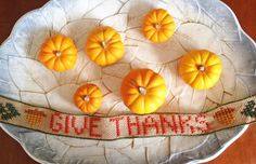"""KBB Crafts & Stitches: """"Give Thanks""""  Ribbon Banner"""