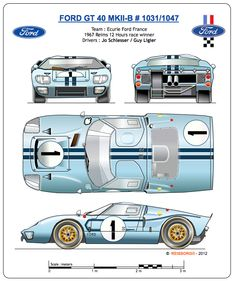 Via Ford Gt40 Mkii Ford Gt Ford Gt40 Gt Cars