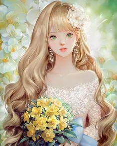""""""" """"So I have really long hair. Anime Angel Girl, Cool Anime Girl, Pretty Anime Girl, Beautiful Anime Girl, Kawaii Anime Girl, Anime Art Girl, Anime Girls, Chica Angel Animé, Girl Cartoon"""
