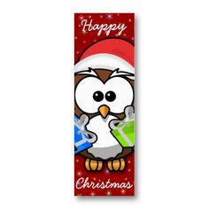 bookmark with a cute Santa owl.