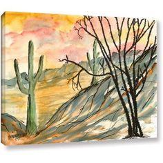 ArtWall Derek Mccrea Arizona Evening Gallery-wrapped Canvas, Size: 24 x 32, Brown